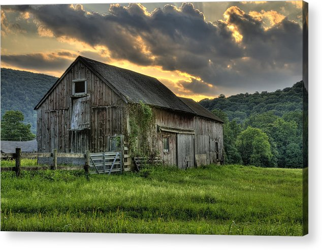 Farms And Barns Acrylic Print featuring the photograph Casey's Barn by Thomas Schoeller
