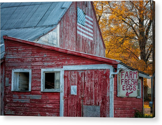 Warren Acrylic Print featuring the photograph Connecticut Farmstand by Thomas Schoeller