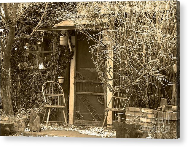 Genoa Acrylic Print featuring the photograph The Old House In Genoa Nevada by Artist and Photographer Laura Wrede