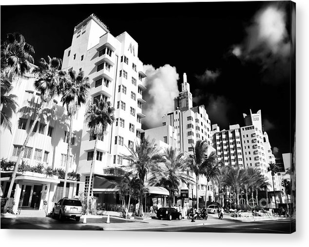 Collins Avenue Acrylic Print featuring the photograph Collins Avenue by John Rizzuto
