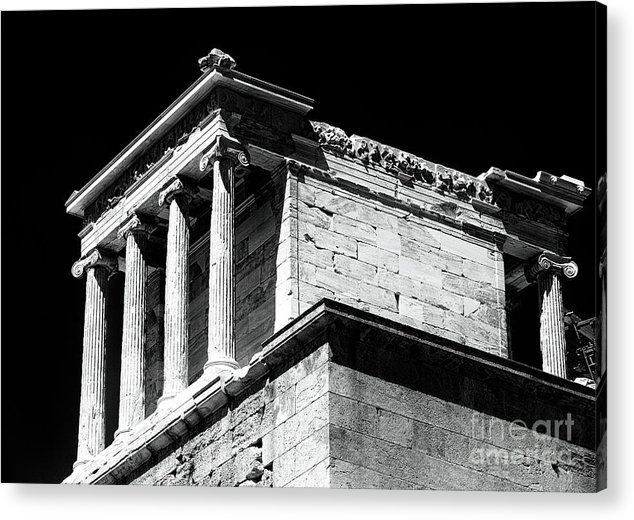Temple Of Athena Nike Acrylic Print featuring the photograph Temple Of Athena Nike by John Rizzuto