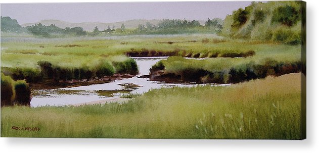 Creek Acrylic Print featuring the painting Yarmouthport Marsh by Karol Wyckoff
