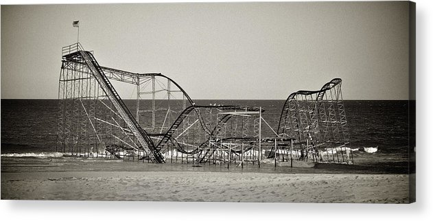 The Jet Star Acrylic Print featuring the photograph Seaside After Sandy by Mark Miller