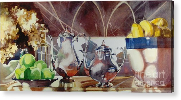 Still Life Acrylic Print featuring the painting May I Have This Dance by Elizabeth Carr