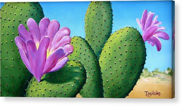 Landscape Acrylic Print featuring the painting Too Close For Comfort by Tanja Ware