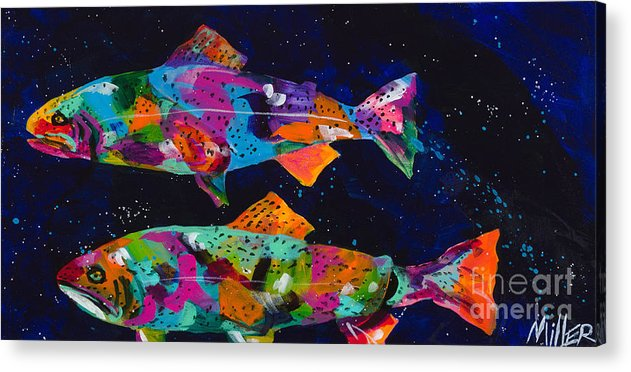 Tracy Miller Acrylic Print featuring the painting Cutthroats by Tracy Miller