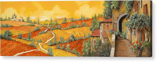 Tuscany Acrylic Print featuring the painting Bassa Toscana by Guido Borelli