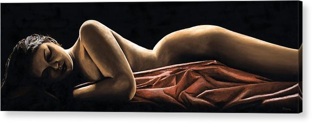 Nude Acrylic Print featuring the painting Reverie by Richard Young