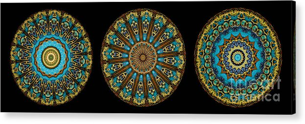 Fantasy Acrylic Print featuring the photograph Kaleidoscope Steampunk Series Triptych by Amy Cicconi