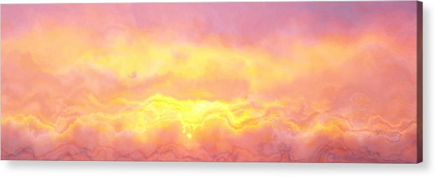 Abstract Art Acrylic Print featuring the digital art Above The Clouds - Abstract Art by Jaison Cianelli
