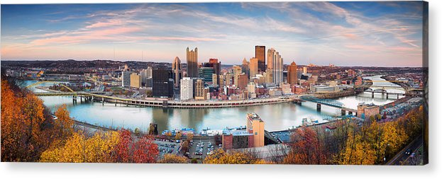 Steelers Acrylic Print featuring the photograph Fall In Pittsburgh by Emmanuel Panagiotakis