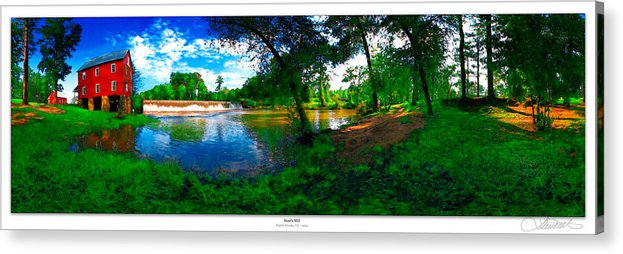 Historic Acrylic Print featuring the photograph Starrs Mill 360 Panorama by Lar Matre