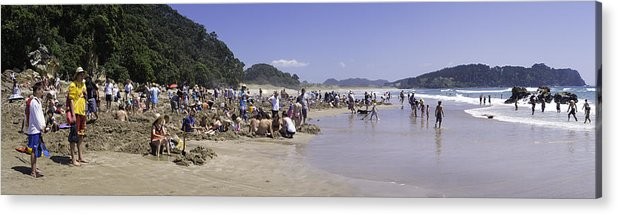 New Zealand Acrylic Print featuring the photograph Hot Water Beach by Tim Mulholland