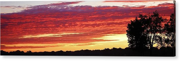 Sunset Acrylic Print featuring the photograph Days End by Bruce Bley