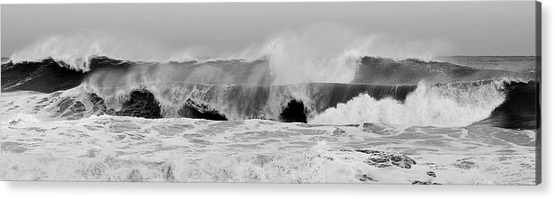 Two Waves Acrylic Print featuring the photograph Two Waves Are Better Than One - Jersey Shore by Angie Tirado