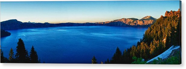 Crater Lake Acrylic Print featuring the photograph Blue Blue Blue by Rob Wilson