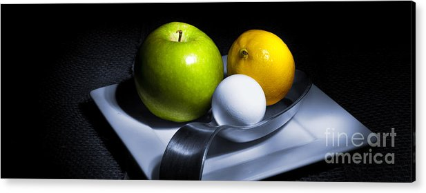 Apple Acrylic Print featuring the photograph Still Life Eclectic 2 by Cecil Fuselier