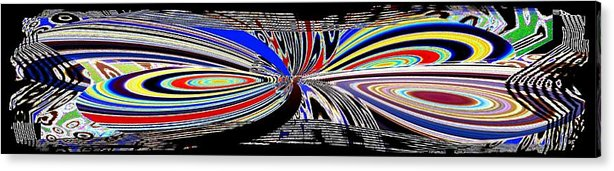 Abstract Fusion Acrylic Print featuring the digital art Abstract Fusion 197 by Will Borden