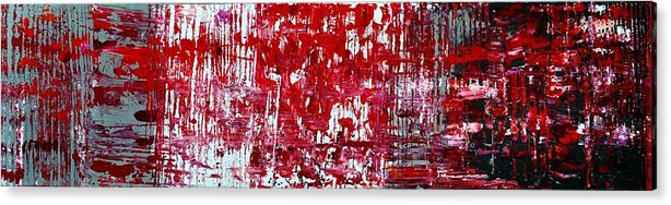 Red Paintings Acrylic Print featuring the painting Red Grey White And Black by Martina Niederhauser