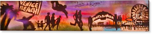 Graffiti Acrylic Print featuring the painting Venice Beach To Santa Monica by Tony B Conscious