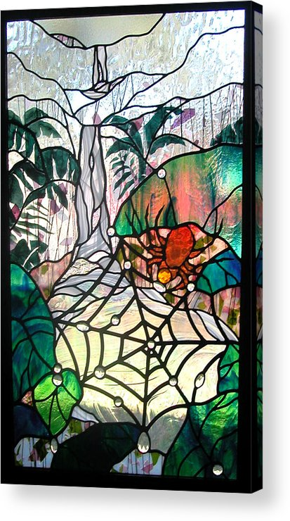 Glass Acrylic Print featuring the glass art After The Rain by Christine Alexander