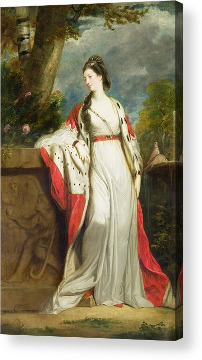 Elizabeth Acrylic Print featuring the painting Elizabeth Gunning - Duchess Of Hamilton And Duchess Of Argyll by Sir Joshua Reynolds