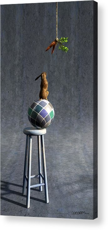 Rabbit Acrylic Print featuring the digital art Equilibrium II by Cynthia Decker