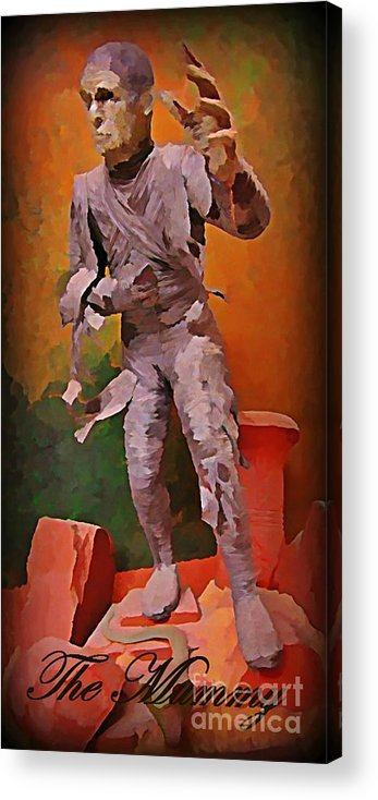Nightmares Acrylic Print featuring the painting The Mummy by John Malone