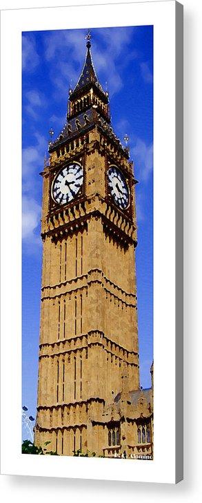 London Acrylic Print featuring the photograph Citymarks London by Roberto Alamino