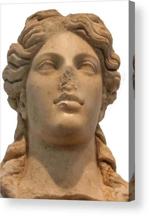 Aphrodisias Acrylic Print featuring the sculpture Aphrodite The Goddess Of Love And Beauty by Tracey Harrington-Simpson