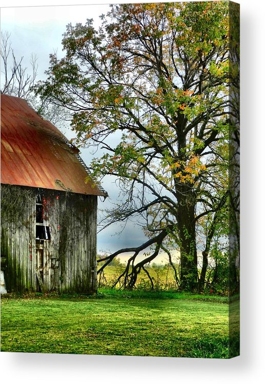 Barns Acrylic Print featuring the photograph At The Barn by Julie Dant