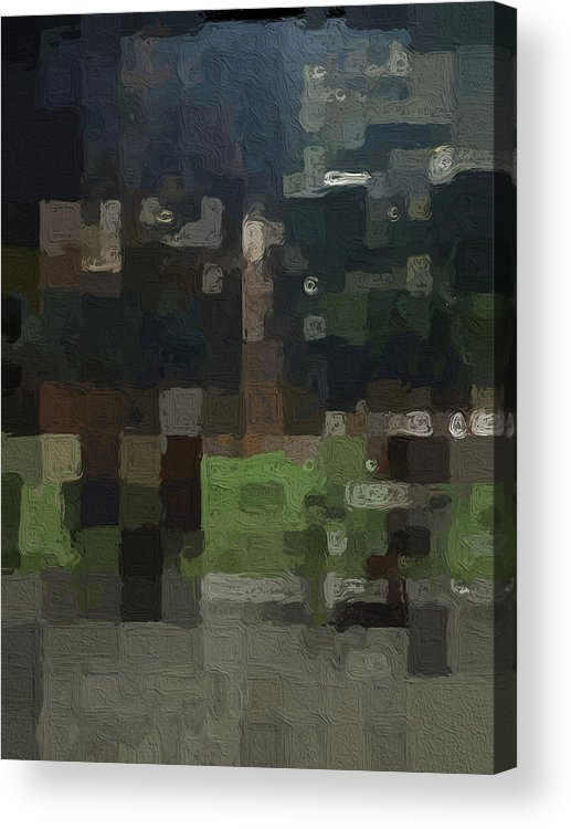 Abstract Painting Acrylic Print featuring the painting Bryant Park by Linda Woods
