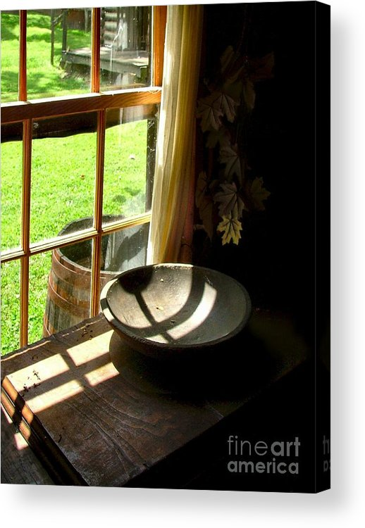 Log Cabins Acrylic Print featuring the photograph Cabin Crosses I by Julie Dant