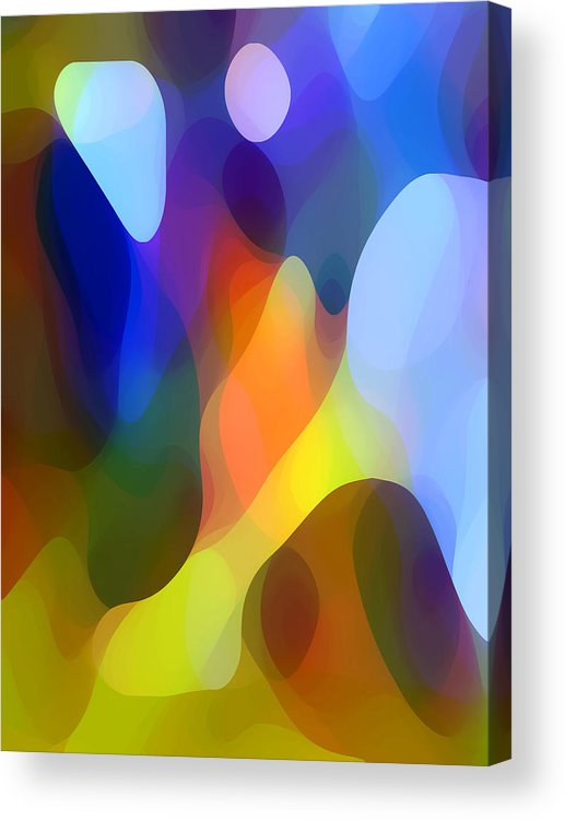 Abstract Art Acrylic Print featuring the painting Dappled Light by Amy Vangsgard