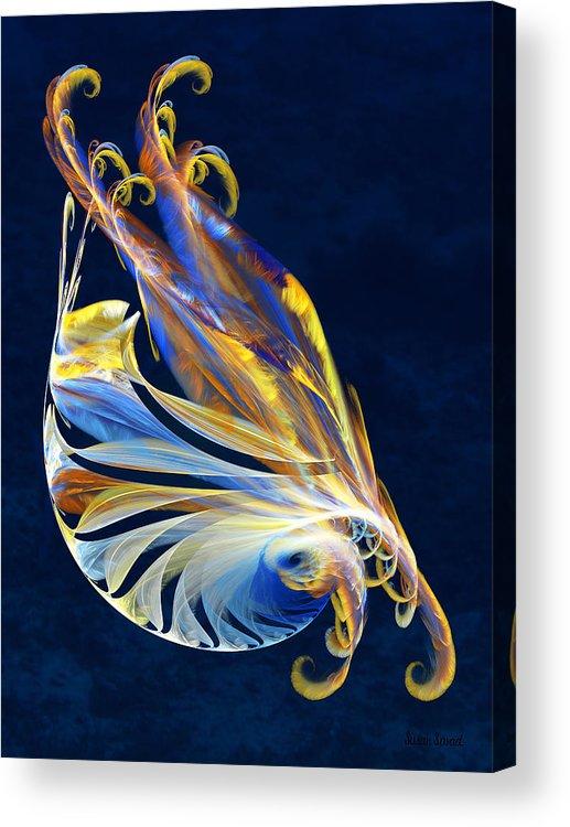 Fractal Acrylic Print featuring the digital art Fractal - Sea Creature by Susan Savad