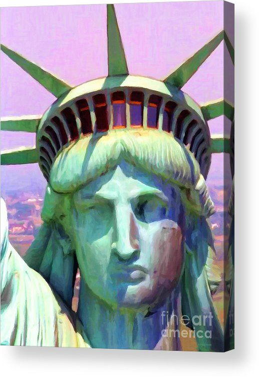 Patriotic Acrylic Print featuring the photograph Liberty Head Painterly 20130618 by Wingsdomain Art and Photography