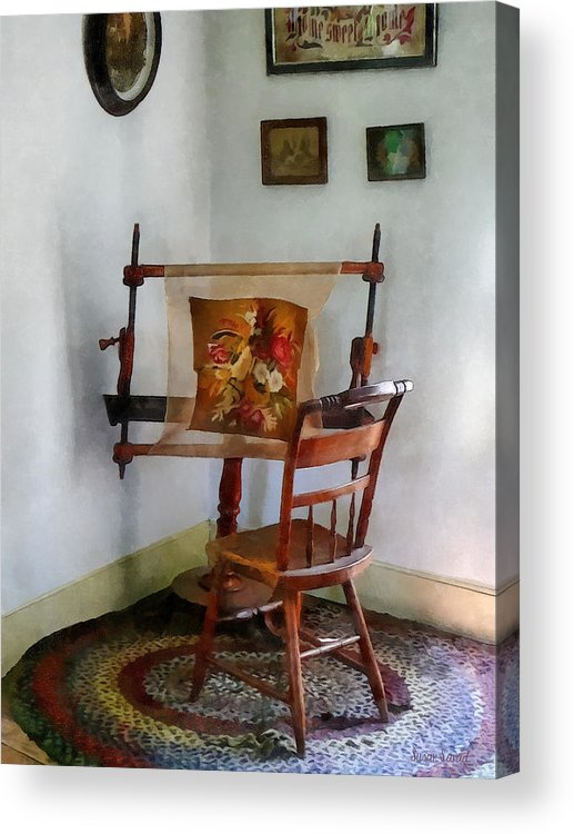 Tapestry Acrylic Print featuring the photograph Making A Tapestry by Susan Savad