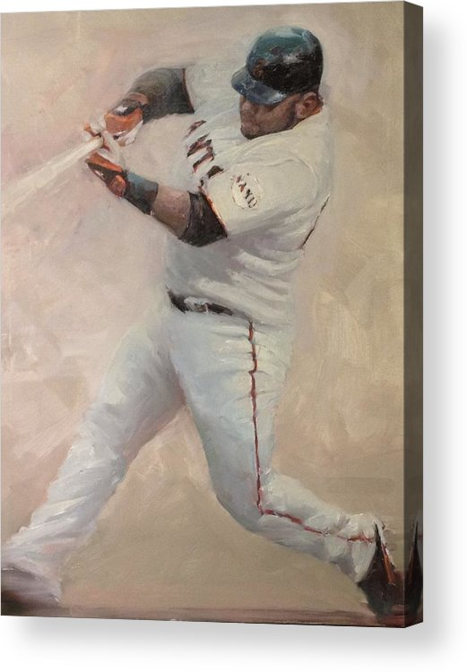 Pablo Sandoval Acrylic Print featuring the painting Panda Homer #1 by Darren Kerr