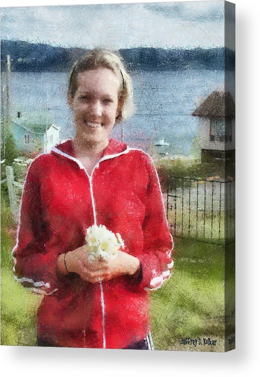 Canadian Acrylic Print featuring the painting Portrait In Newfoundland by Jeff Kolker