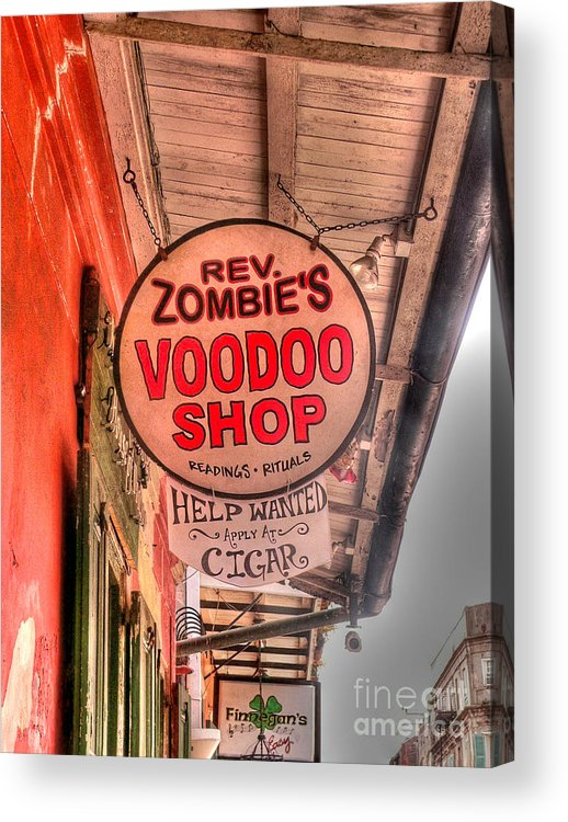 Voodoo Shop Acrylic Print featuring the photograph Rev. Zombie's by David Bearden