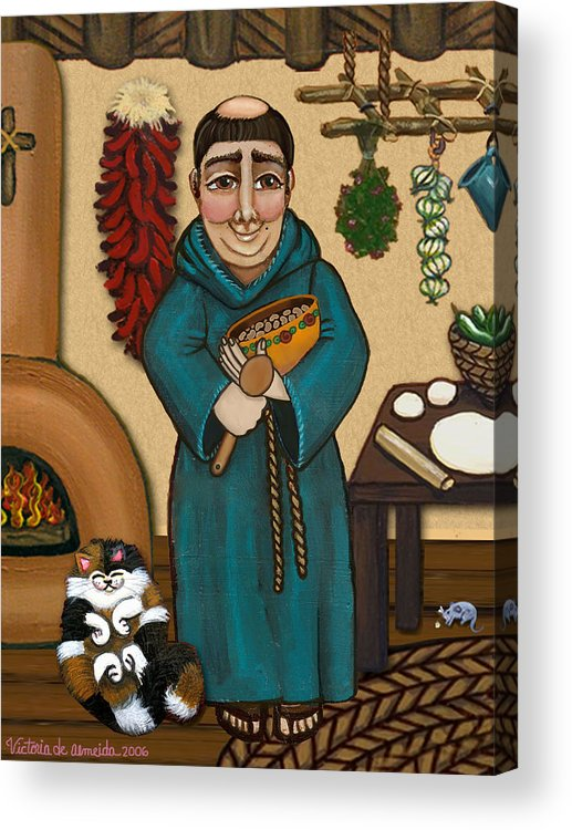 San Pascual Acrylic Print featuring the painting San Pascual by Victoria De Almeida