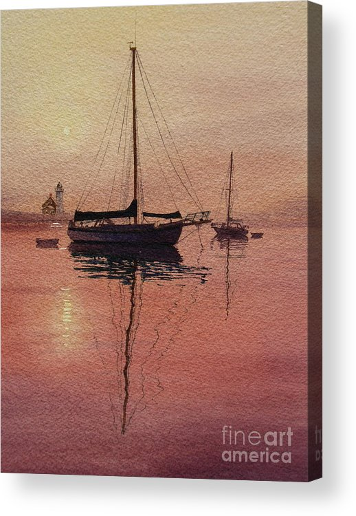 Sailboats Acrylic Print featuring the painting Scituate Serenity by Karol Wyckoff