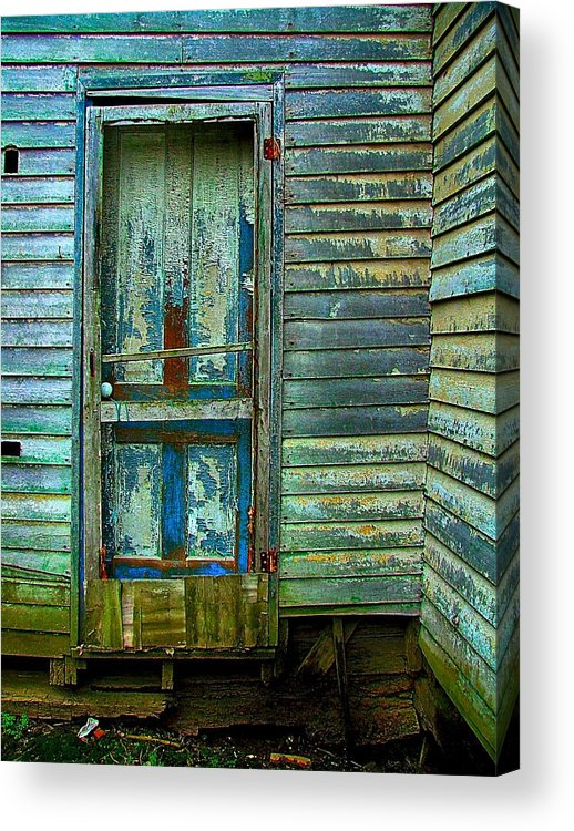 Old Doors Acrylic Print featuring the photograph The Old Blue Door by Julie Dant