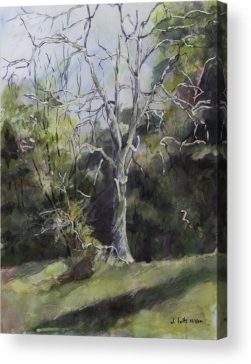 Landscape Acrylic Print featuring the painting Tree by Janet Felts