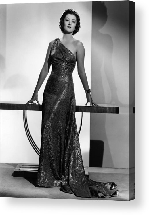 11x14lg Acrylic Print featuring the photograph Myrna Loy, Mgm Portrait By Clarence by Everett