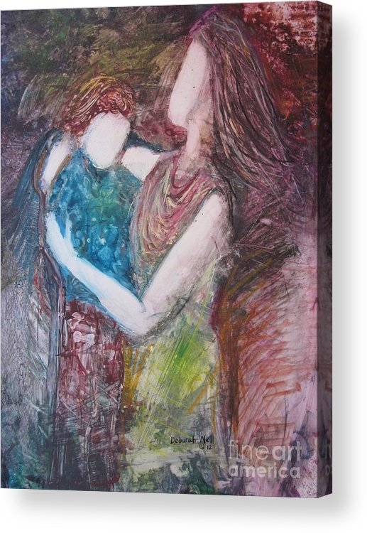 Mother Acrylic Print featuring the painting By Your Side by Deborah Nell