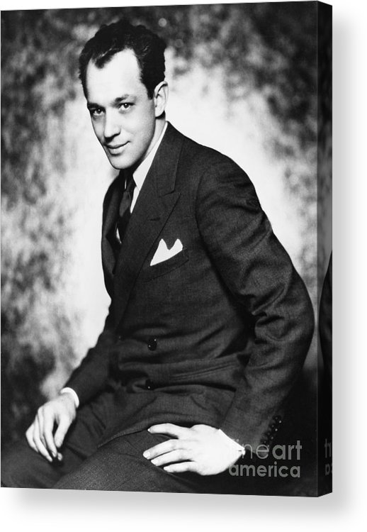 1928 Acrylic Print featuring the photograph Charles Macarthur by Granger
