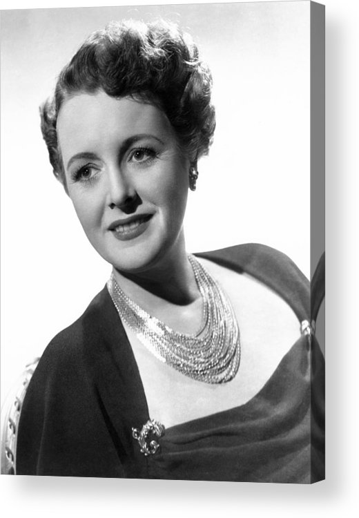 1940s Portraits Acrylic Print featuring the photograph Claudia And David, Mary Astor, 1946 by Everett