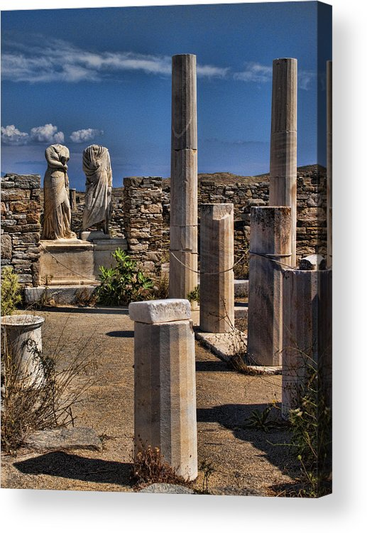 House Of Cleopatra Acrylic Print featuring the photograph Delos Island by David Smith