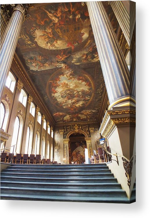 Painted Hall Acrylic Print featuring the photograph Dining Hall At Royal Naval College by Anna Villarreal Garbis